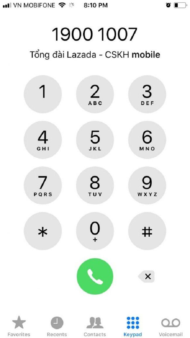 Số Hotline Lazada 1900.1007