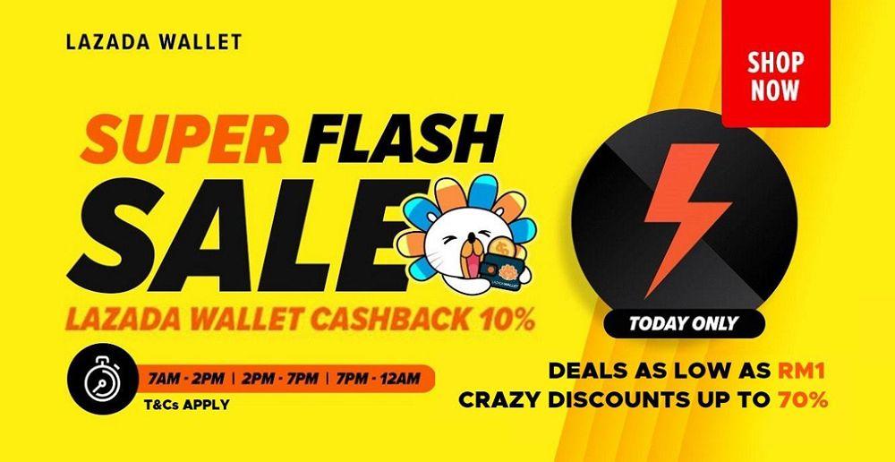 Cứ 2h lại có 1 chương trình FlashSale Lazada giảm giá cực sốc
