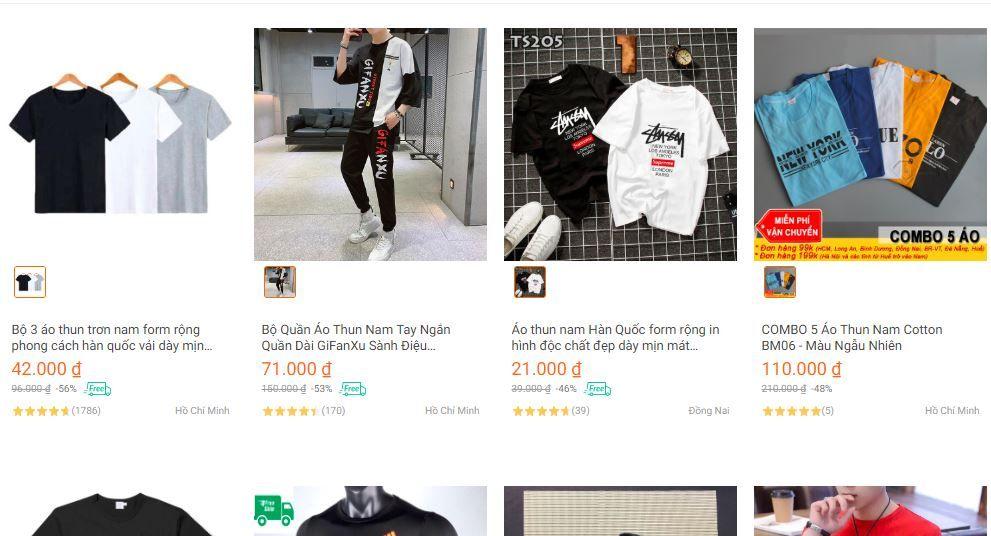 Mua quần áo Online đã trở nên rất gần gũi với mọi người