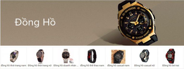Lazada bán rất nhiều loại đồng hồ