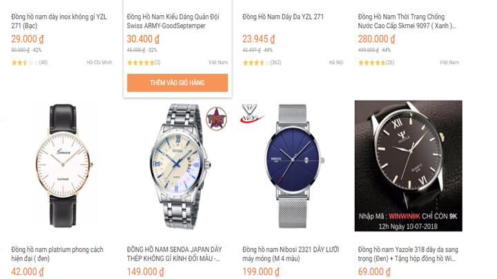 Giá đồng hồ mua trên Lazada như thế nào?