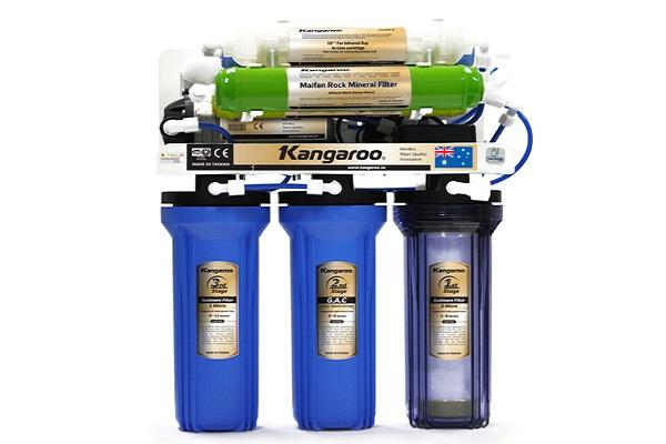 Máy lọc nước Kangaroo có nhiều cấp lọc khác nhau
