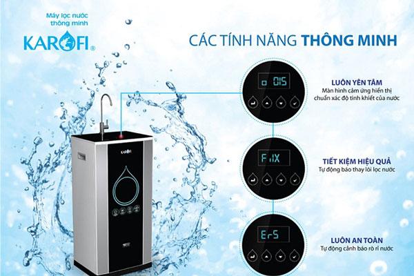 Máy lọc nước Karofi sở hữu nhiều tính năng thông minh