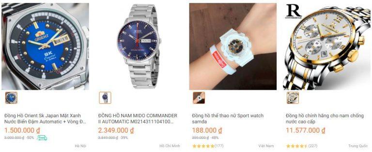Đồng hồ bán trên Lazada có xuất xứ rất nhiều nơi