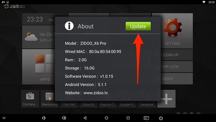 Nên cập nhật Firmware mới nhất cho Android tv box thường xuyên
