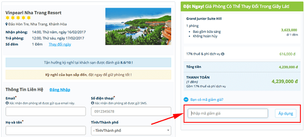 Hướng dẫn dùng mã giảm giá Mytour