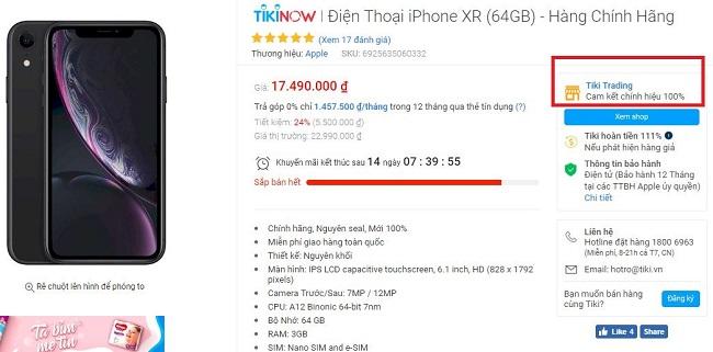 Sản phẩm được bán bởi Tiki Trading