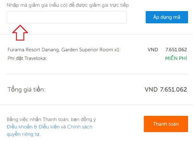 Hướng dẫn cách sử dụng mã giảm giá Traveloka trên Website