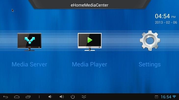 Ứng dụng điều khiển eHomeMediaCenter