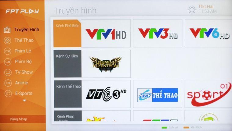 FPT Play - ứng dụng cực kỳ hay cho TV Box