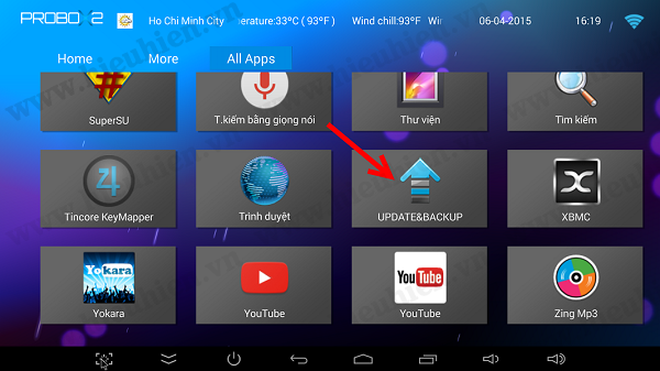 Update Firmware cho TV box