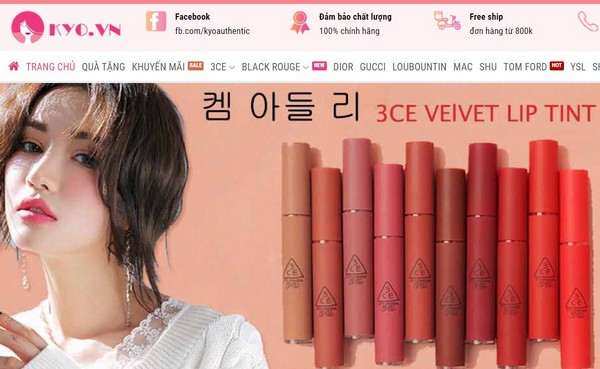 Kyo Authentic - Shop Mỹ Phẩm uy tín bán online đảm bảo chất lượng